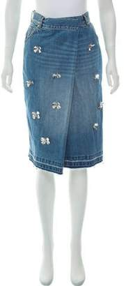Muveil Embellished Denim Skirt w/ Tags