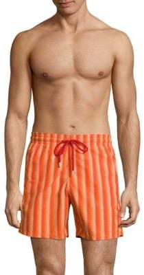 Vilebrequin Herringbone-Print Swim Trunks