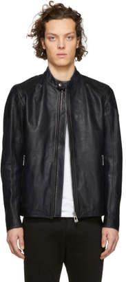 Belstaff Blue Leather Bandit Jacket