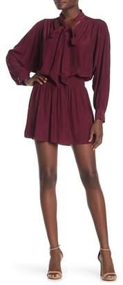 Ramy Brook Winslow Tie Neck Blouson Dress