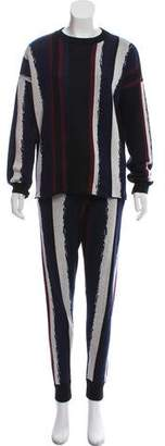 Baja East Printed Pant Loungewear Set