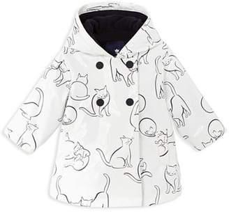 Jacadi Girls' Cat Print Raincoat - Baby