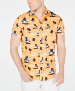 Club Room Men's Sunset-Print Shirt, Created for Macy's