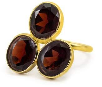 Brio Vintouch Italy - Pompei Garnet Gold Ring