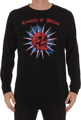 Marcelo Burlon County of Milan Skull Long Sleeve T-shirt