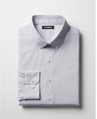 Express classic striped cotton button-down dress shirt