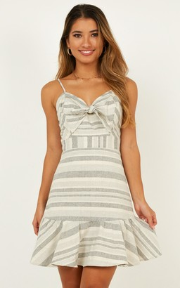 906bfd4b057 Showpo Freaky Friday dress in grey stripe - 8 (S) Casual Dresses