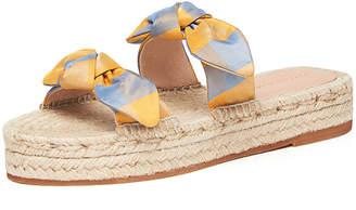 Loeffler Randall Daisy Silk Bow Espadrilles