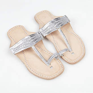 NEW Handmade leather sandals in ancient silver by Banjarans Leather Sandals