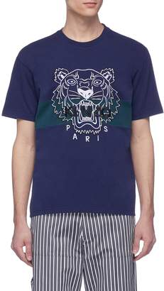 Kenzo Tiger embroidered stripe T-shirt