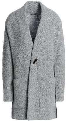 James Perse Mélange Wool Crochet-Knit Sweater