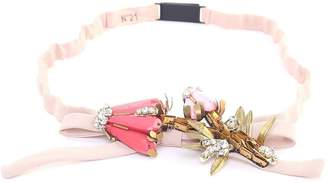 N°21 N.21 Crystal-embellished Bow Crepe Belt