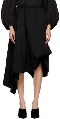 Yohji Yamamoto Black String Draped Skirt