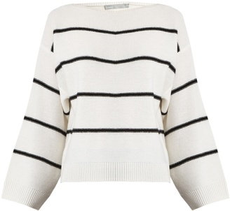 VINCE Oversized striped cashmere sweater $355 thestylecure.com