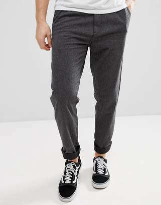 Esprit Loose Fit Smart Pants In Brushed Cotton