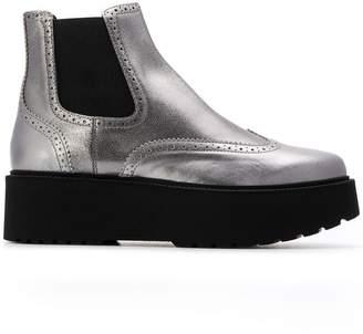 Hogan platform sole Chelsea boots