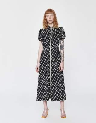 ALEXACHUNG Alexa Chung Puff Sleeve Zip Dress