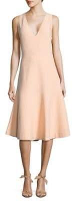 Narciso Rodriguez Block Grid Knit Knee-Length Dress