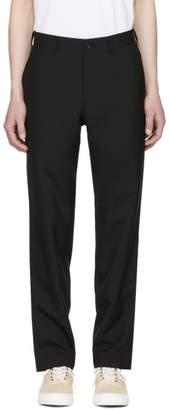 Comme des Garcons Homme Black Hopsack Trousers