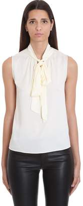 Theory Topwear In White Silk