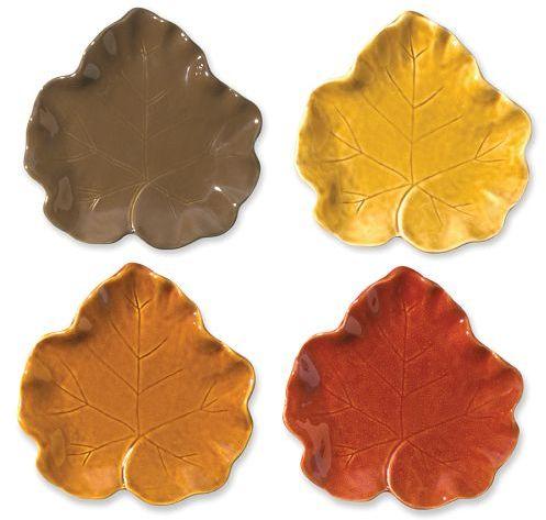 Pumpkin Leaf Plate, Set of 4