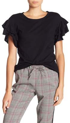 Joe Fresh Layered Ruffle Sleeve Tee