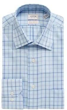 Arrow Plaid Cotton Twill Dress Shirt