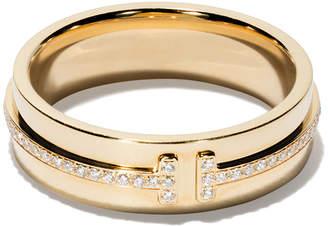 Tiffany & Co. & Co 18kt yellow gold T two diamond narrow ring