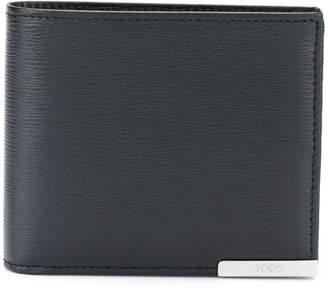 Tod's logo plaque bifold wallet