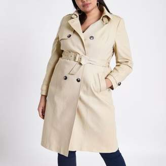 River Island Womens Plus beige belted trench coat