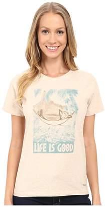 Life is Good Watercolor LIG Hammock Crushertm Tee Women's T Shirt
