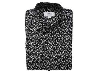 Eton Slim Fit Fox Print Button Down Shirt