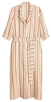 MANGO Striped long dress