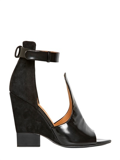 Givenchy - 100mm Brushed Calf Suede Cut Out Pumps