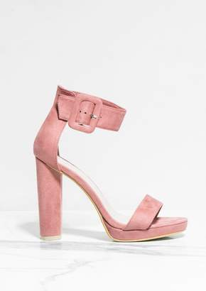 942b8a659dbc Missy Empire Missyempire Darcy Blush Faux Suede Buckle Barely There Heels