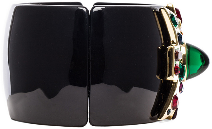 Kenneth Jay Lane Large Cross Cuff