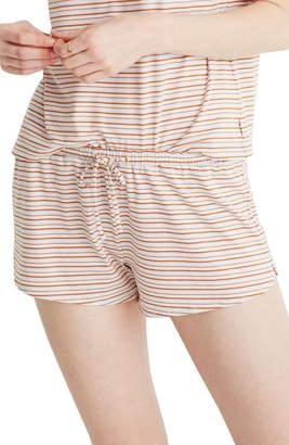 Madewell Stripe Knit Pajama Shorts