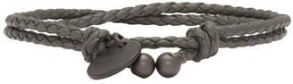 Bottega Veneta Grey Intrecciato Double Strand Bracelet