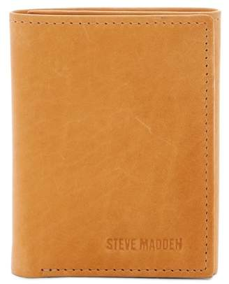 Steve Madden Antique Leather Tri-fold Wallet