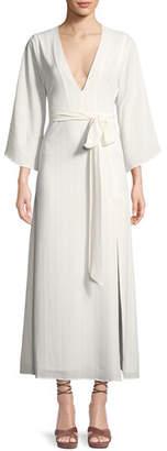 Donna Mizani Charlize Wrap-Front Maxi Dress