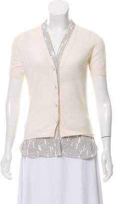 Bottega Veneta Short Sleeve Cashmere Cardigan