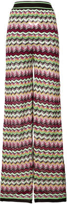 M Missoni patterned knit flared trousers
