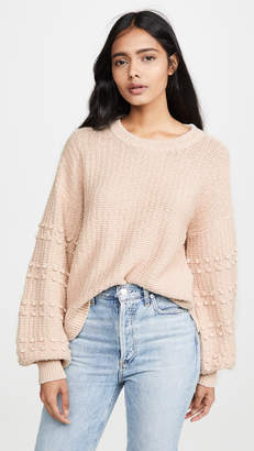 Madewell Sycamore Bobble Balloon Sleeve Sweater