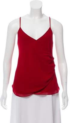 Rebecca Minkoff Ruched-Accented Crossover Top