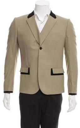 Balenciaga Virgin Wool Blend Colorblock Blazer