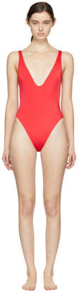 Solid and Striped SSENSE Exclusive Red The Michelle Swimsuit
