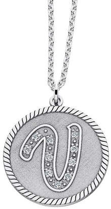 JCPenney FINE JEWELRY Personalized Sterling Silver Initial Pendant Necklace