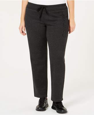 Calvin Klein Plus Size Slim Fleece Pants