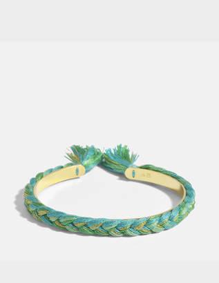 Aurelie Bidermann Copacabana Small Bangle Bracelet in Emerald Green 18K Gold-Plated Brass