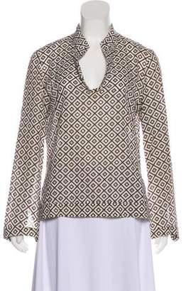 Tory Burch Long Sleeve Sequin Blouse